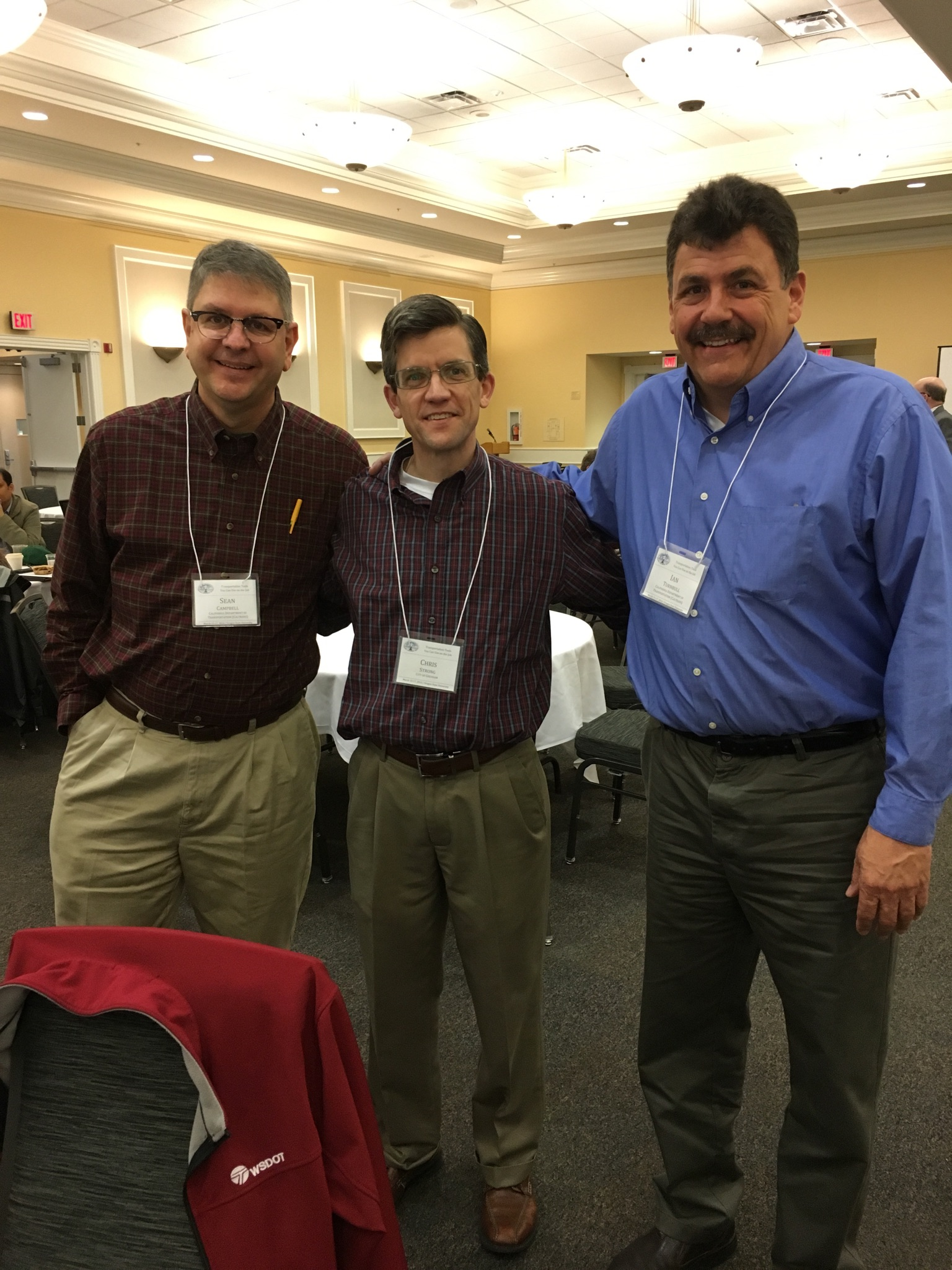 Sean Campbell, Chris Strong and Ian Turnbull at the Northwest Transportation Conference in Corvallis, Oregon, March 2016.